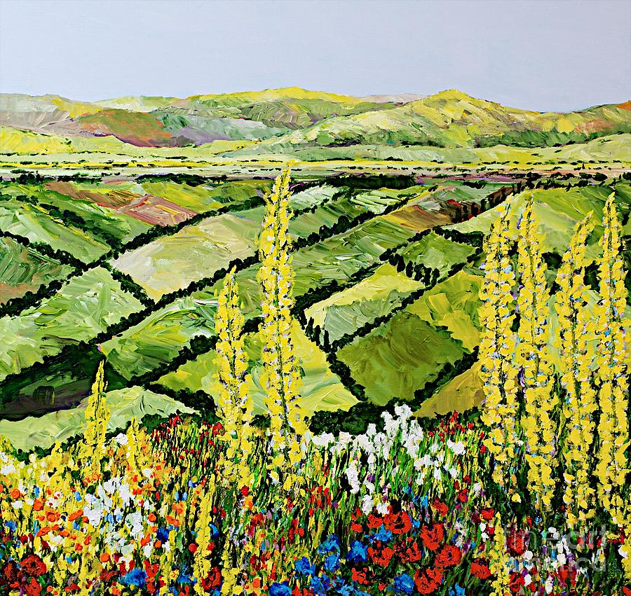 Rolling Fields Painting
