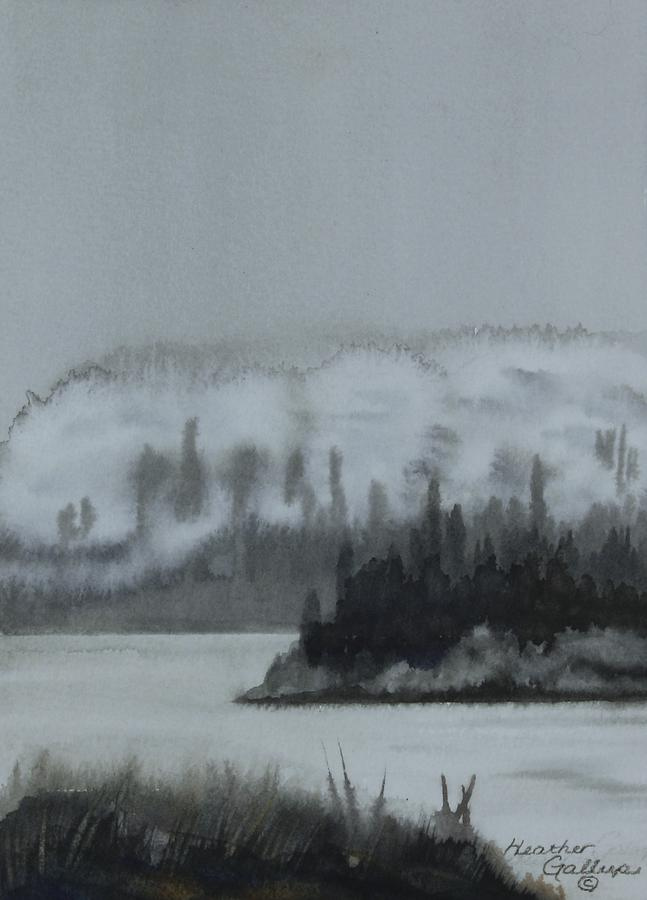 Canadian Landscape Painting - Rolling In Along The River by Heather Gallup