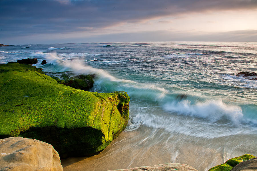 Beach Photograph - Rolling In by Peter Tellone