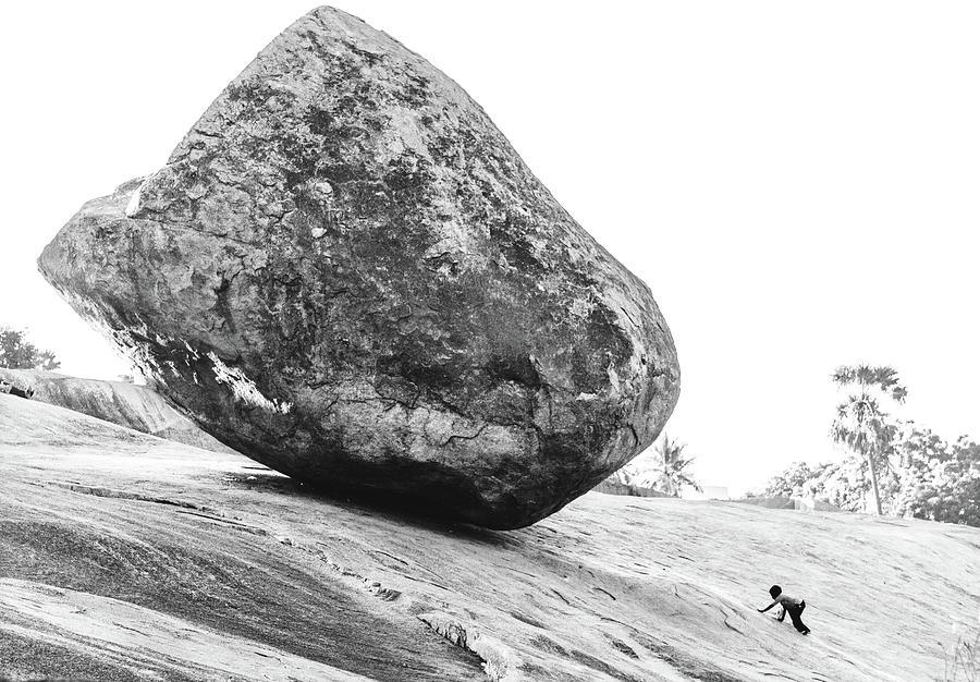 Stone Photograph - Rolling Stone by Agata Hrubsova