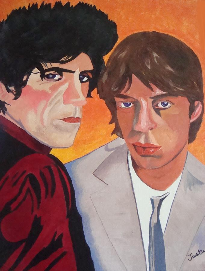 Rolling Stones Painting - Rolling Stones by Paula Justus