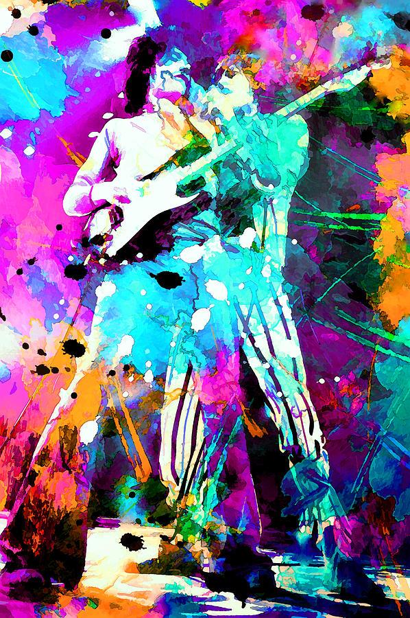Rolling Stones Painting - Rolling Stones by Rosalina Atanasova