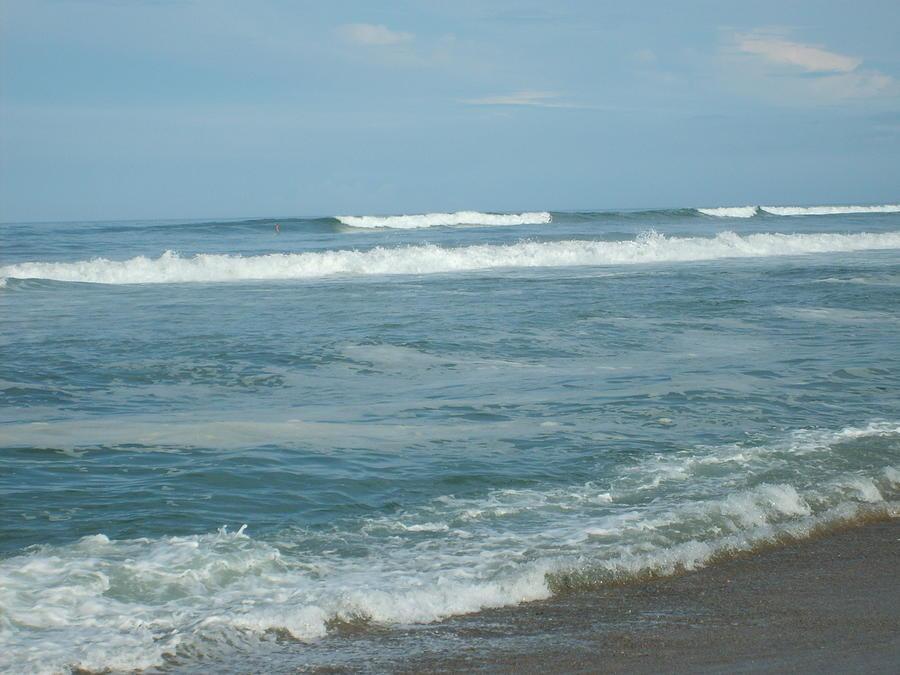 Waves Photograph - Rolling Waves by Deborah May