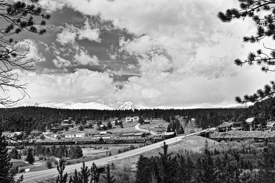 Rollinsville Is A Census-designated Place And A U.s. Post Office Located In Gilpin County Photograph - Rollinsville Colorado Small Town 181 In Black And White by James BO  Insogna