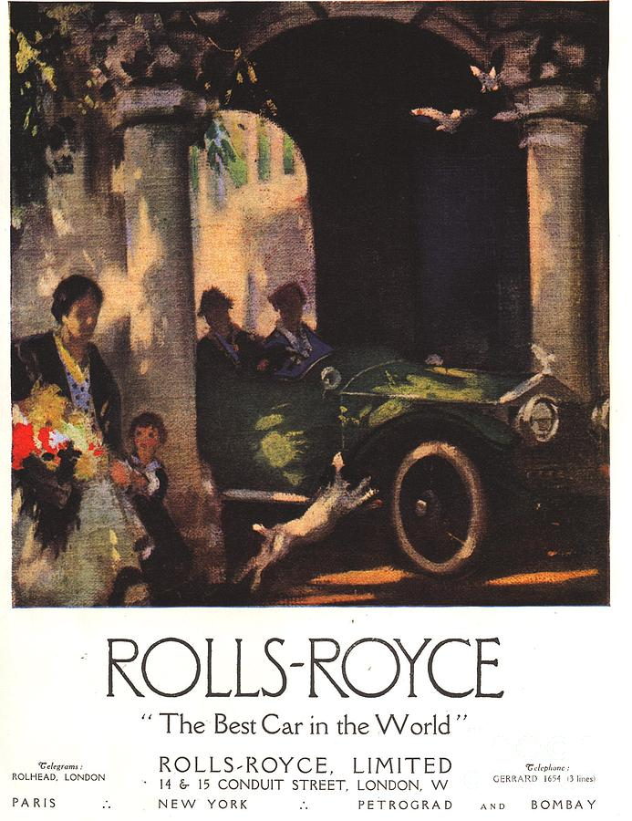 1910�s Drawing - Rolls-royce 1917 1910s Uk  Cars by The Advertising Archives