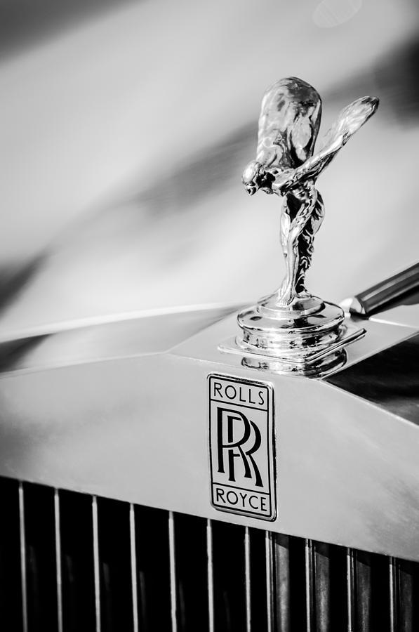 Rolls Royce Hood Ornament Photograph - Rolls-royce Hood Ornament -782bw by Jill Reger