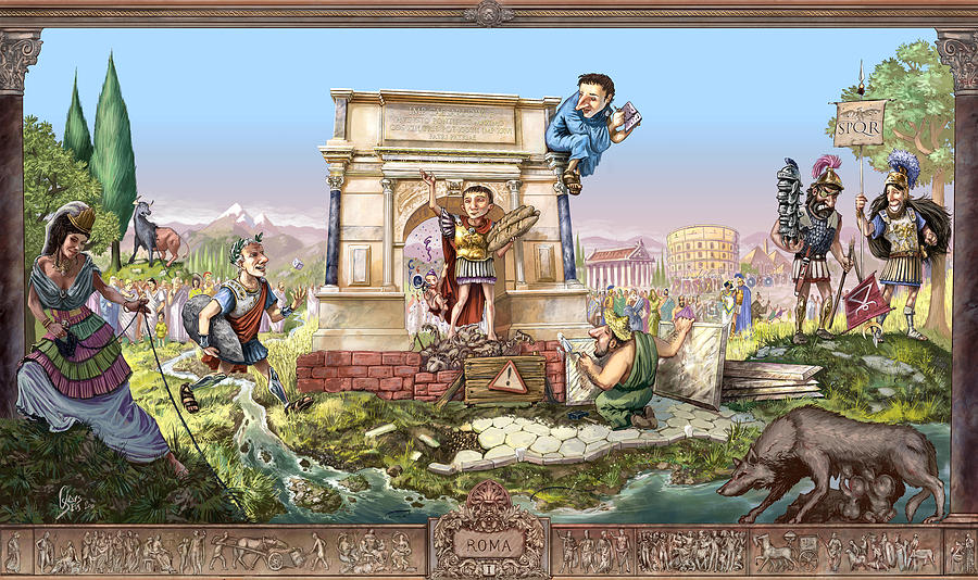 Rome Digital Art - Roma I by Odysseas Stamoglou