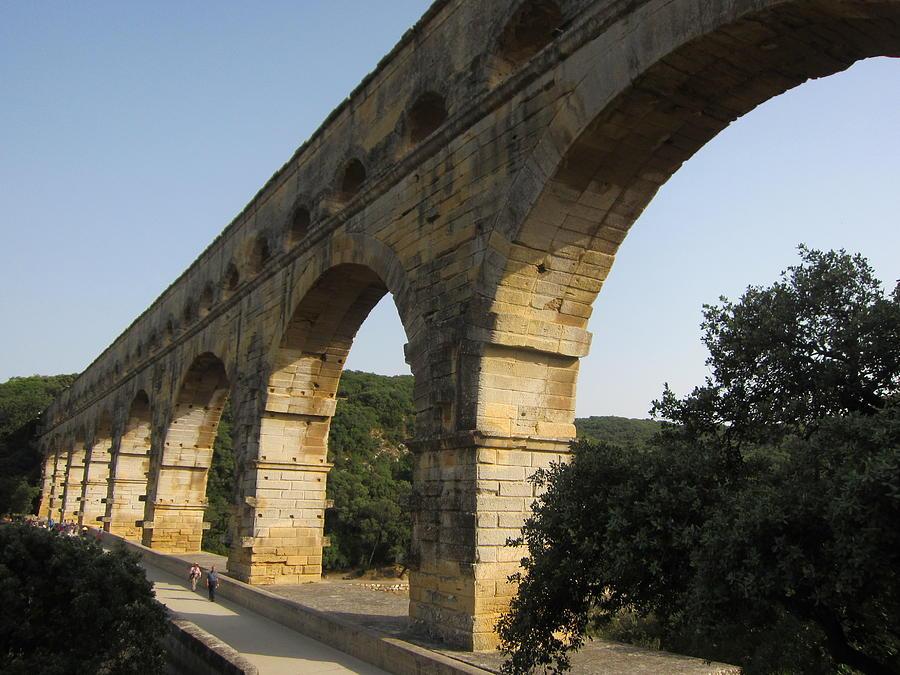 Aqueduct Photograph - Roman Aqueduct by Pema Hou