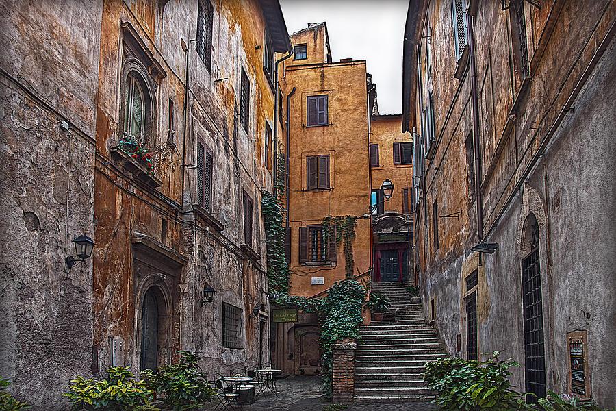 Rom Photograph - Roman Backyard by Hanny Heim