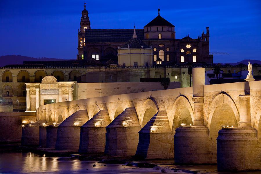 Cordoba Photograph - Roman Bridge And Mezquita In Cordoba At Dawn by Artur Bogacki