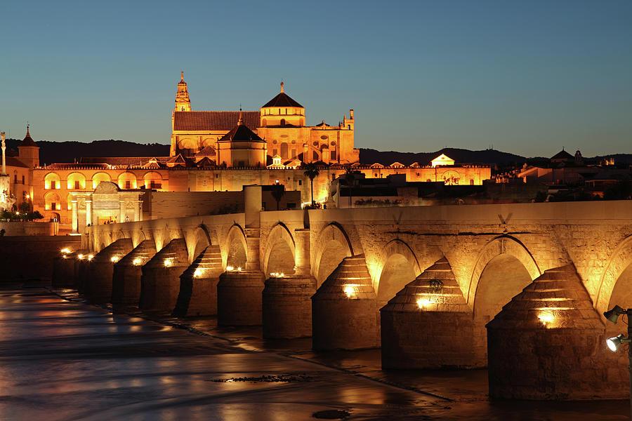 Arch Photograph - Roman Bridge Córdoba by David Bank