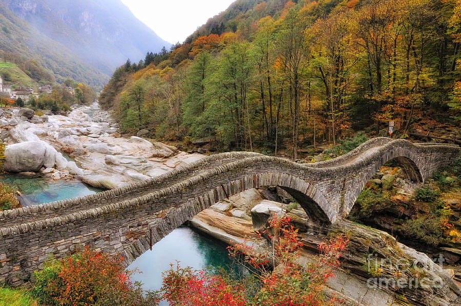 Roman Bridge In Autumn Photograph By Mats Silvan