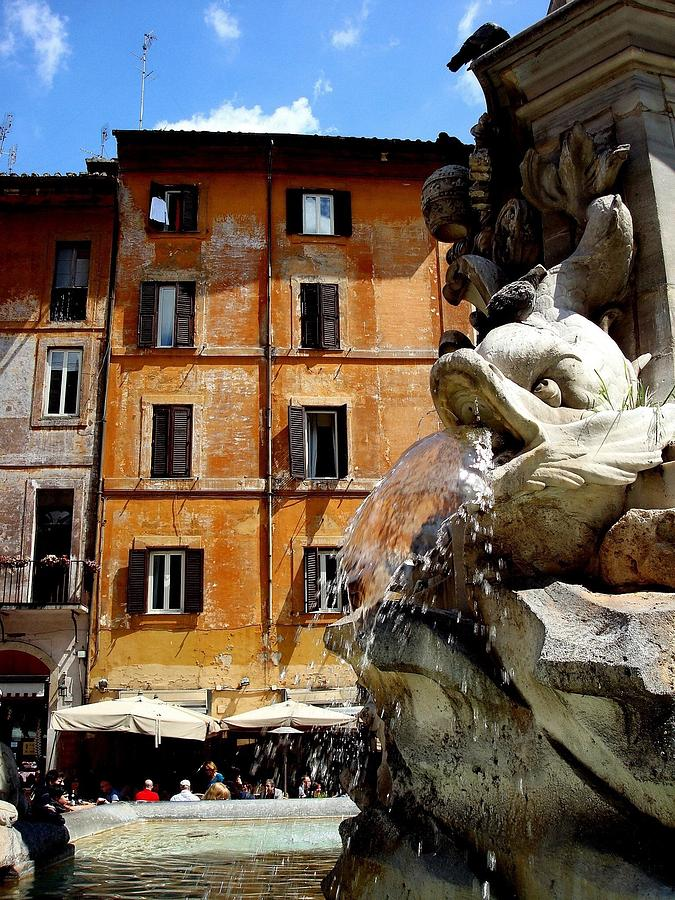 Rome Photograph - Roman Fountain  by Natalya Karavay