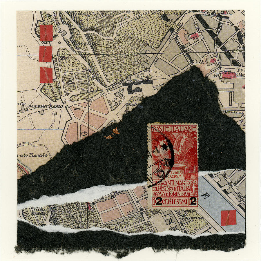 Rome Photograph - Roman Map Collage by Carol Leigh