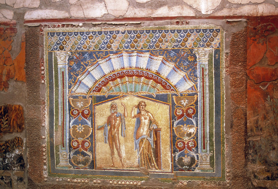 Roman Photograph - Roman Mosaic by Tony Craddock/science Photo Library