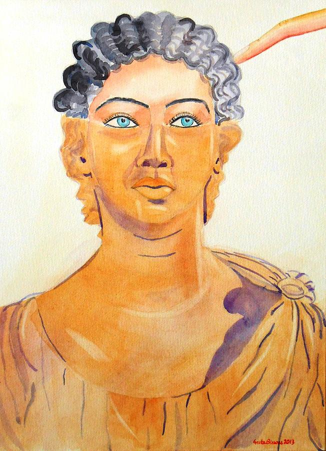 Rome Painting - Roman Statue Coming Alive  by Geeta Biswas