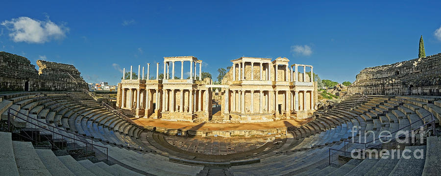 Europe Photograph - roman theatre in Merida by Rudi Prott