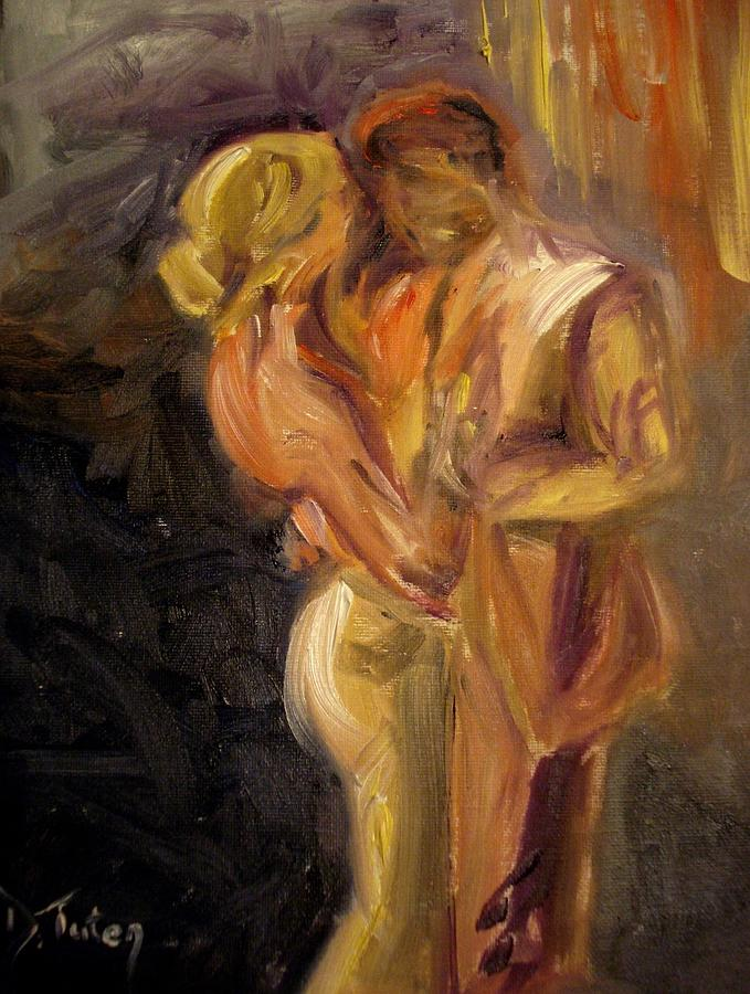 Dance Painting - Romance by Donna Tuten