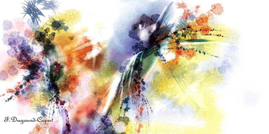 Abstract Digital Art - Romance by Francoise Dugourd-Caput