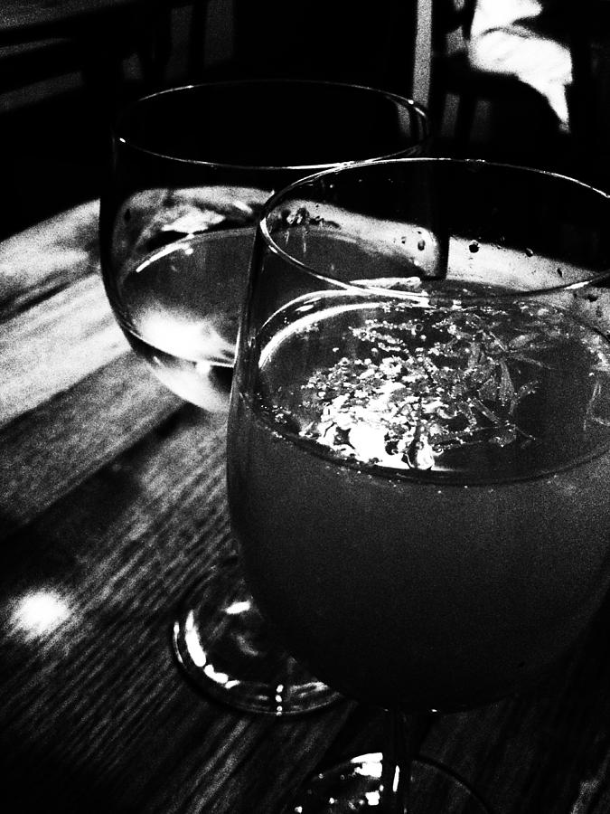 Glass Photograph - Romance by Lucy D