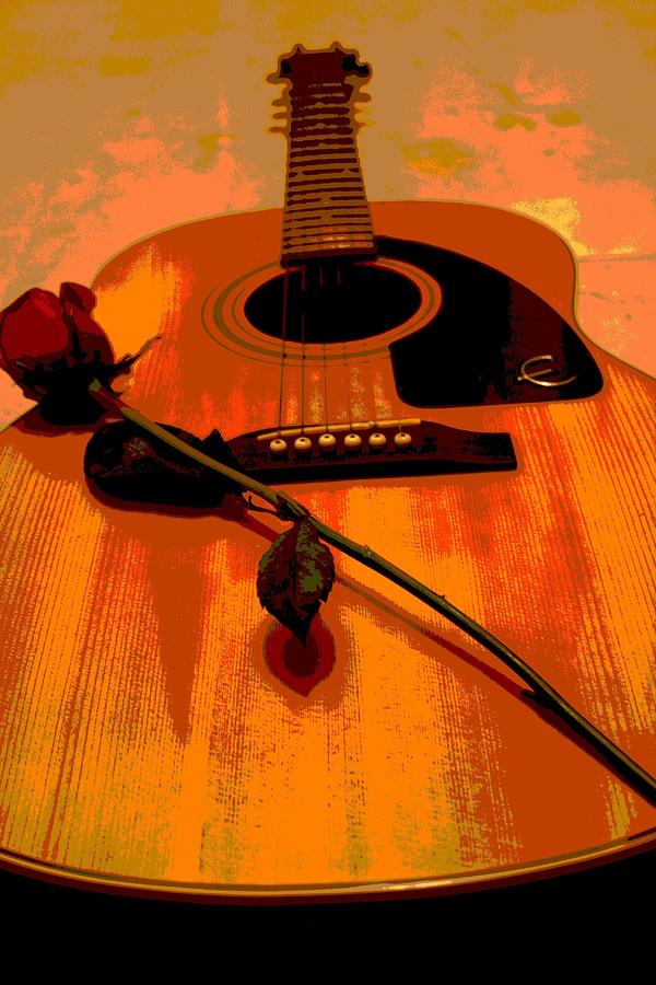 Guitar Photograph - Romance Me by Sharon McLain