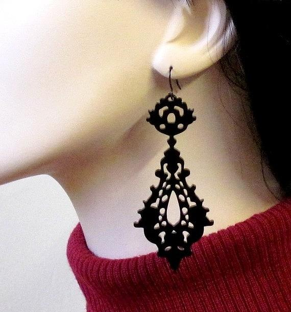 Jewelry Jewelry - Romance-victorian Lace Earrings by Rony Bank
