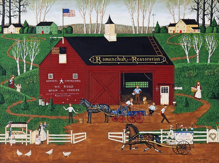 Barn Painting - Romanchuk Restoration by Joseph Holodook