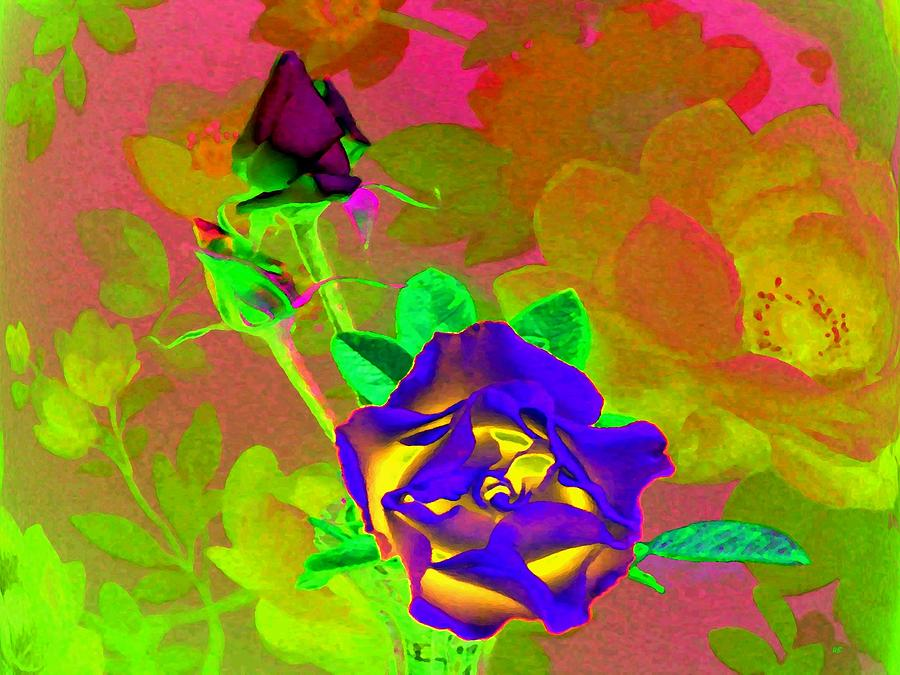 Abstract Digital Art - Romancing The Rose by Will Borden