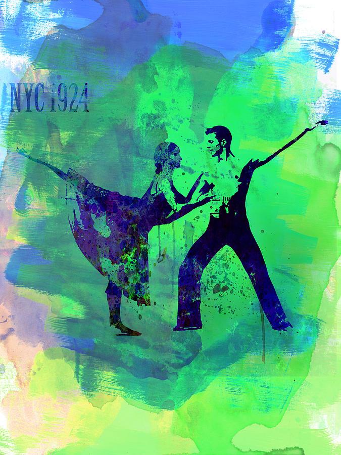 Ballet Painting - Romantic Ballet Watercolor 1 by Naxart Studio