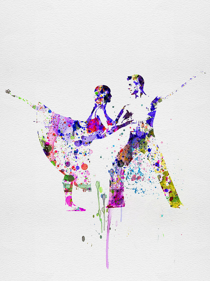 Ballet Painting - Romantic Ballet Watercolor 2 by Naxart Studio
