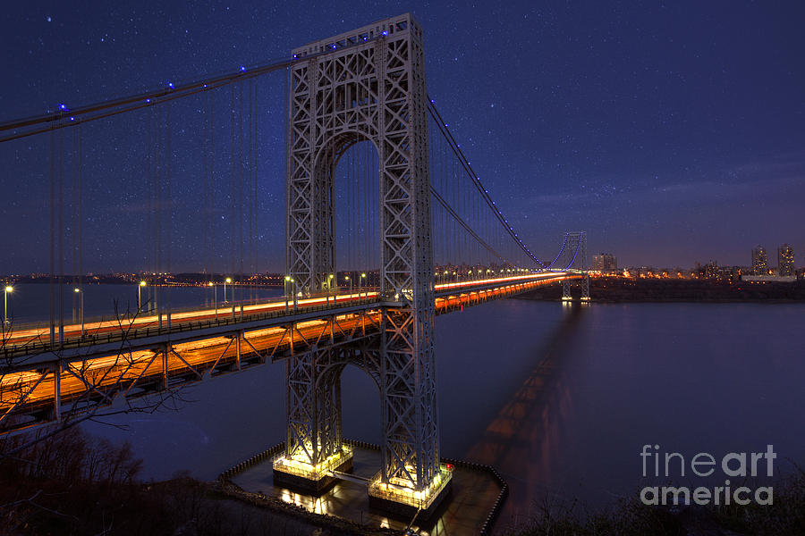 George Washington Bridge Photograph - Romantic Connection by Marco Crupi