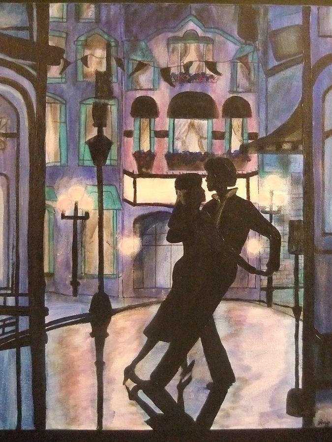 Romantic Painting - Romantic Dance by Lynne McQueen