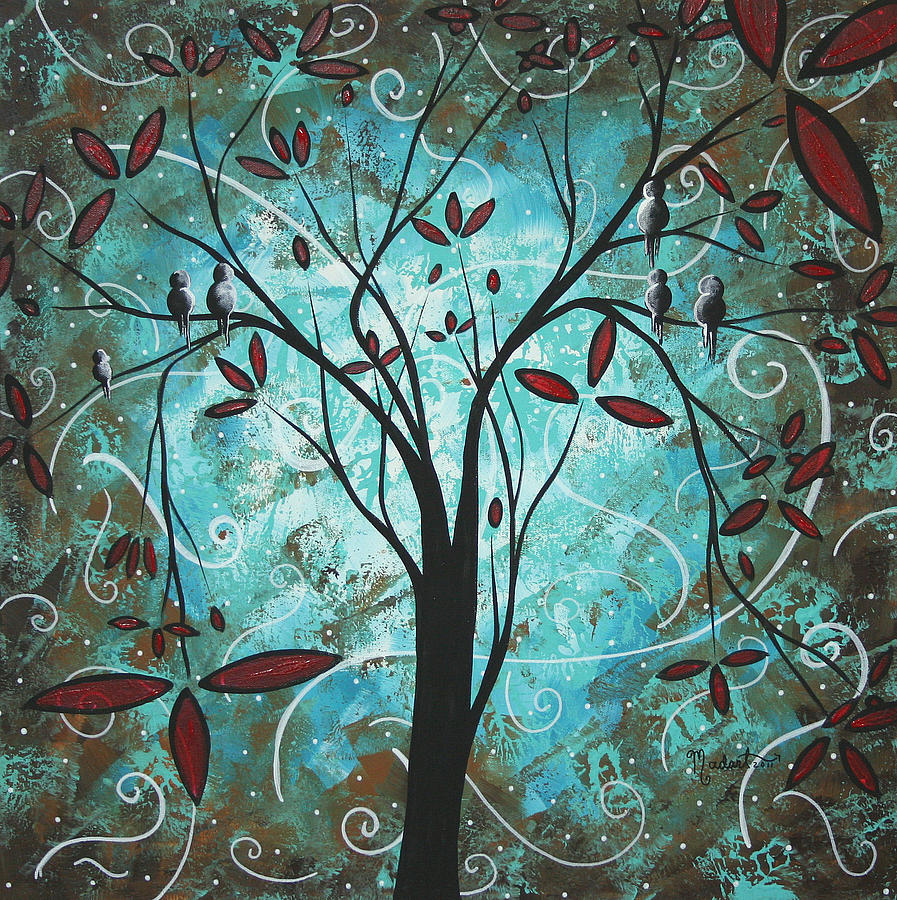 Wall Painting - Romantic Evening By Madart by Megan Duncanson