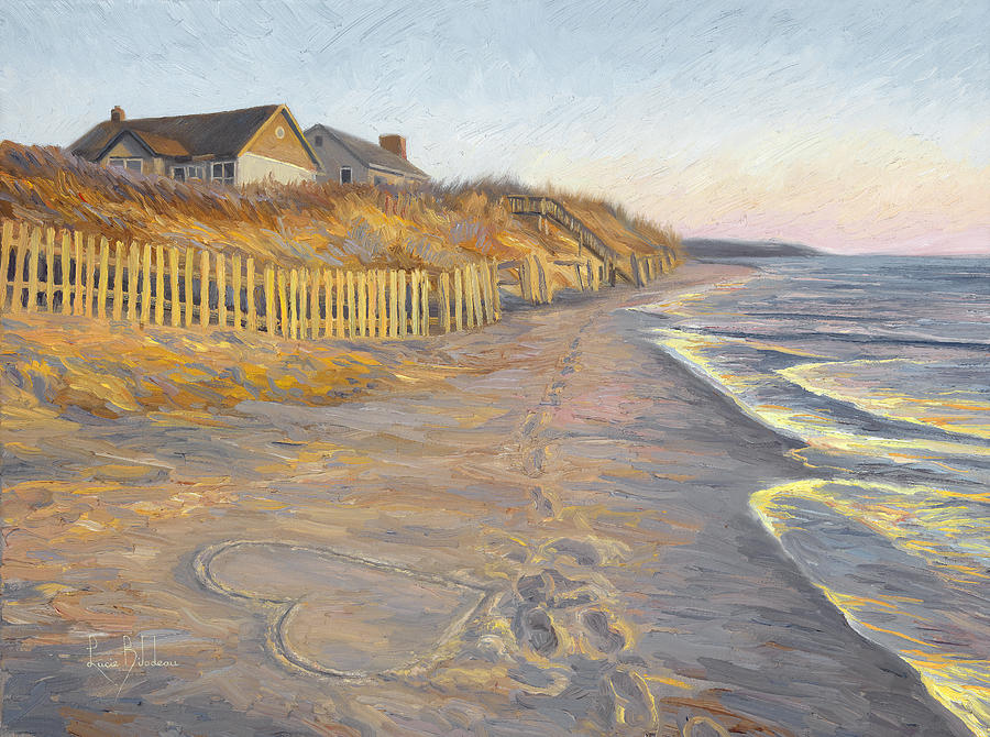 Beach Painting - Romantic Getaway by Lucie Bilodeau