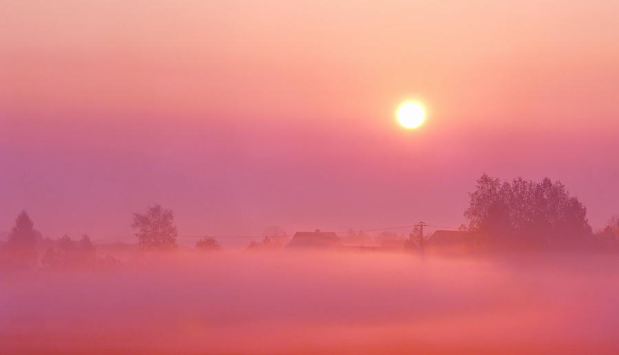 Sunrise Photograph - Romantic by Heike Hultsch