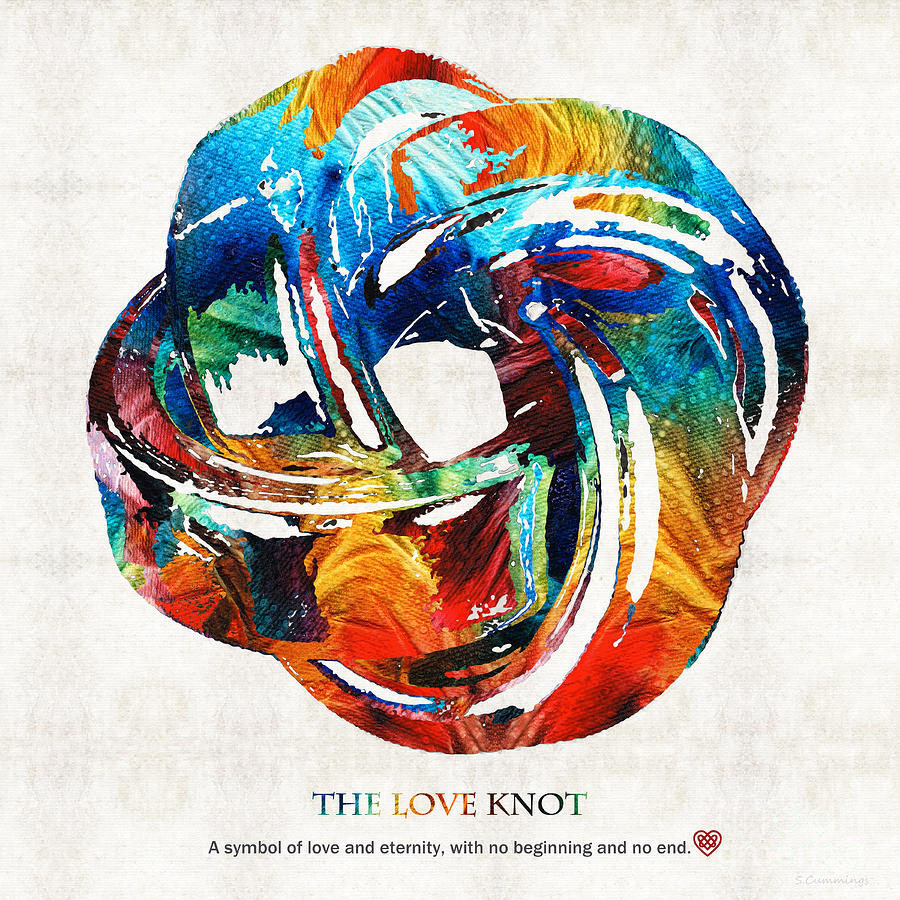 Love Painting - Romantic Love Art - The Love Knot - By Sharon Cummings by Sharon Cummings