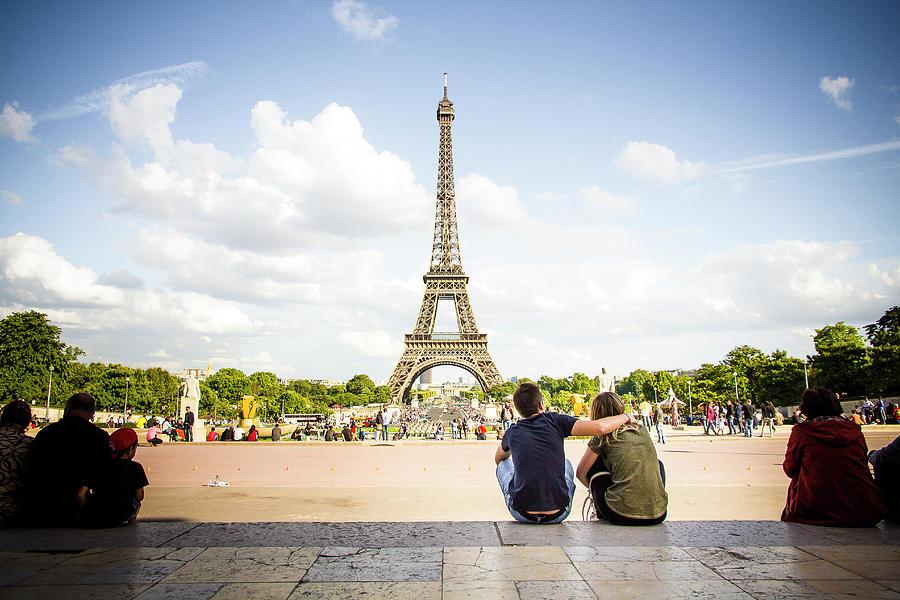 Romantic Love In Paris, Eiffel Tower Photograph by Yoann Jezequel Photography