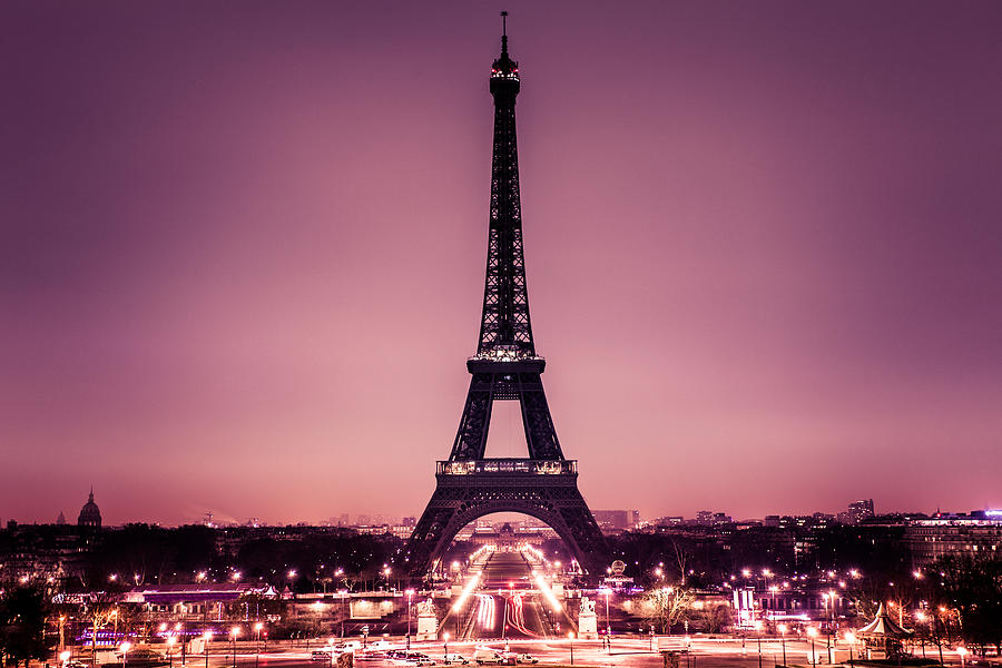 Romantic Paris with Tour Eiffel Photograph by Zodebala