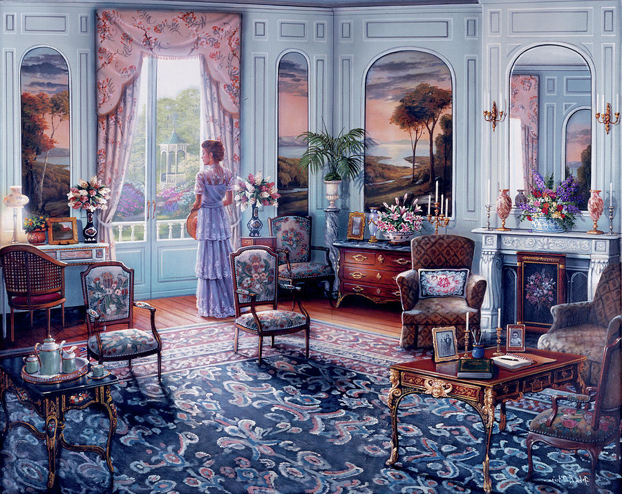 Room Painting - Romantic Reminiscenc Copy by MGL Meiklejohn Graphics Licensing