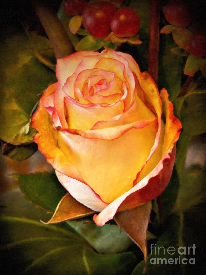 Rose Painting - Romantic Rose by Lutz Baar