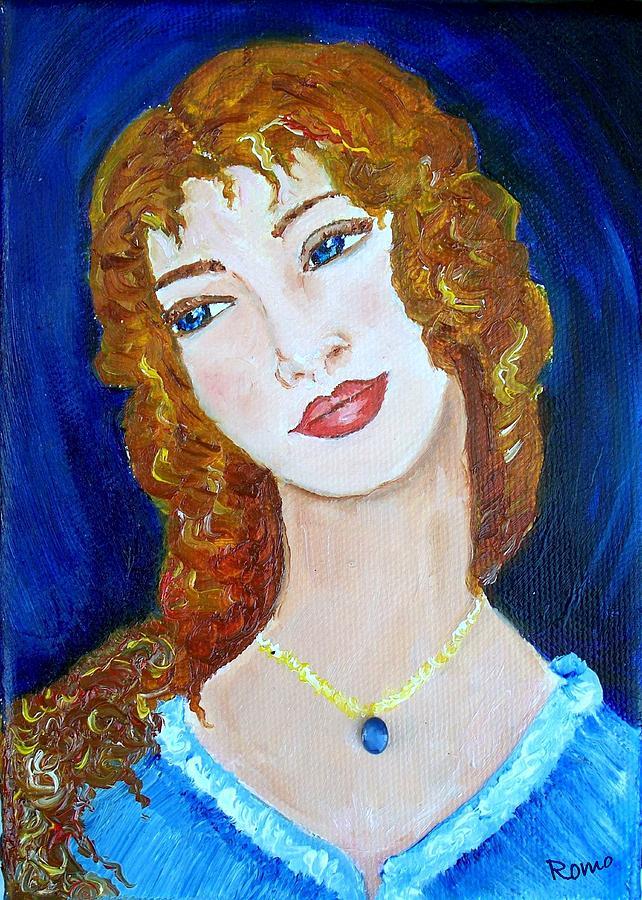 Portrait Painting - Romantic Saphire by Robin Monroe