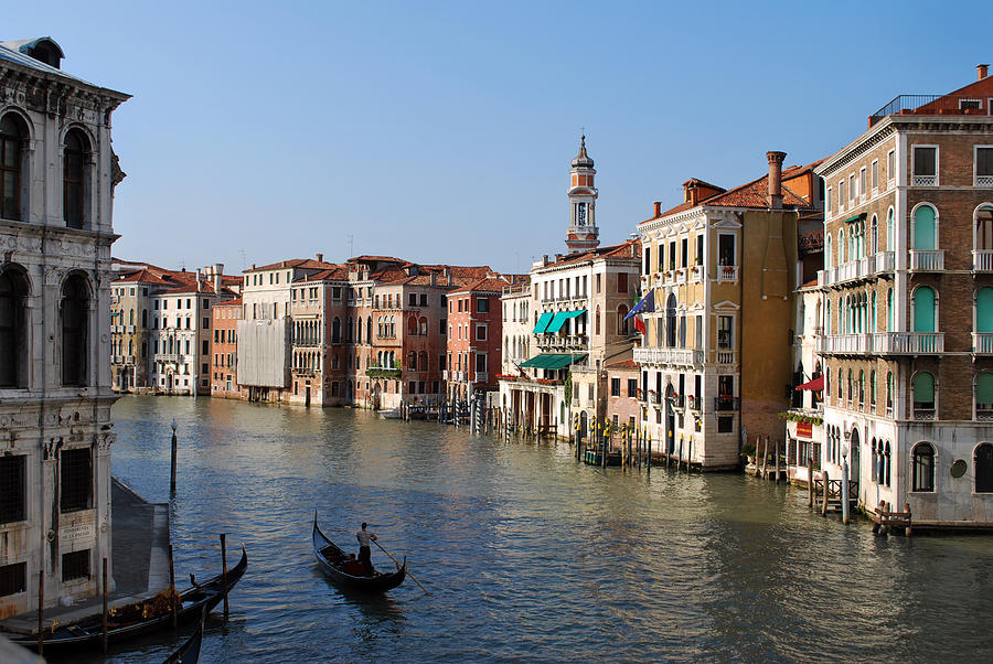 Venice Photograph - Romantic Venice by Terence Davis