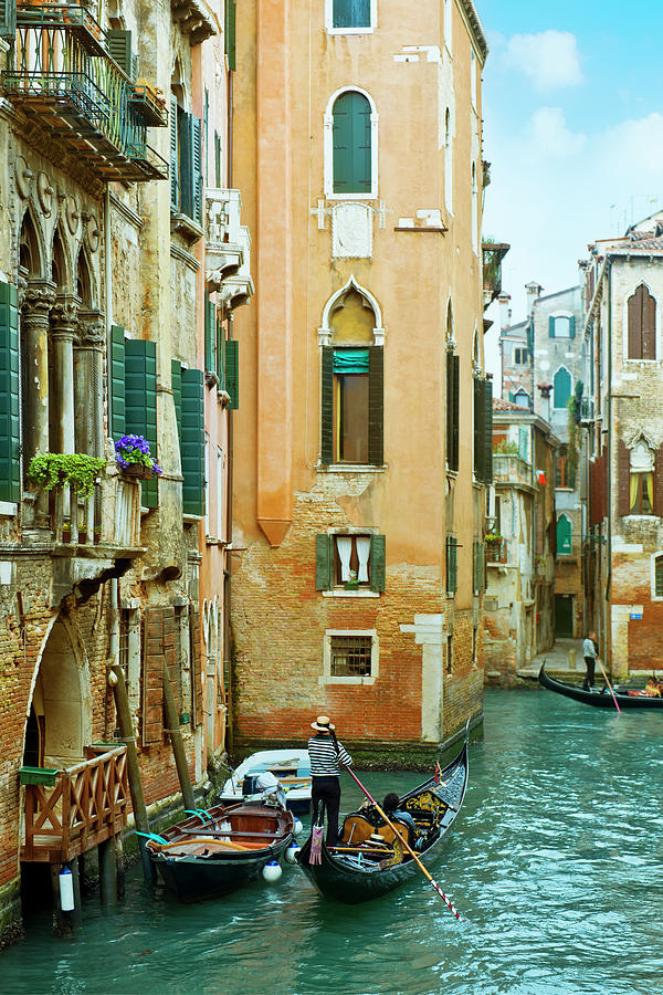 Romantic Venice Views From Gondola Photograph by Caracterdesign