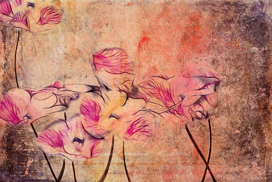 Pink Digital Art - Romantiquite - 44bt22 by Variance Collections