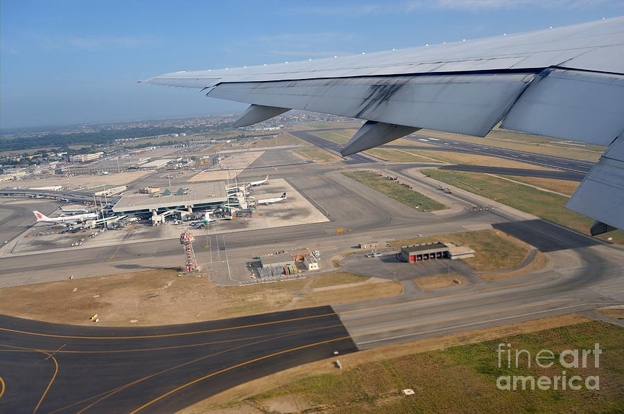 Airport Photograph - Rome Airport From An Aircraft by Sami Sarkis