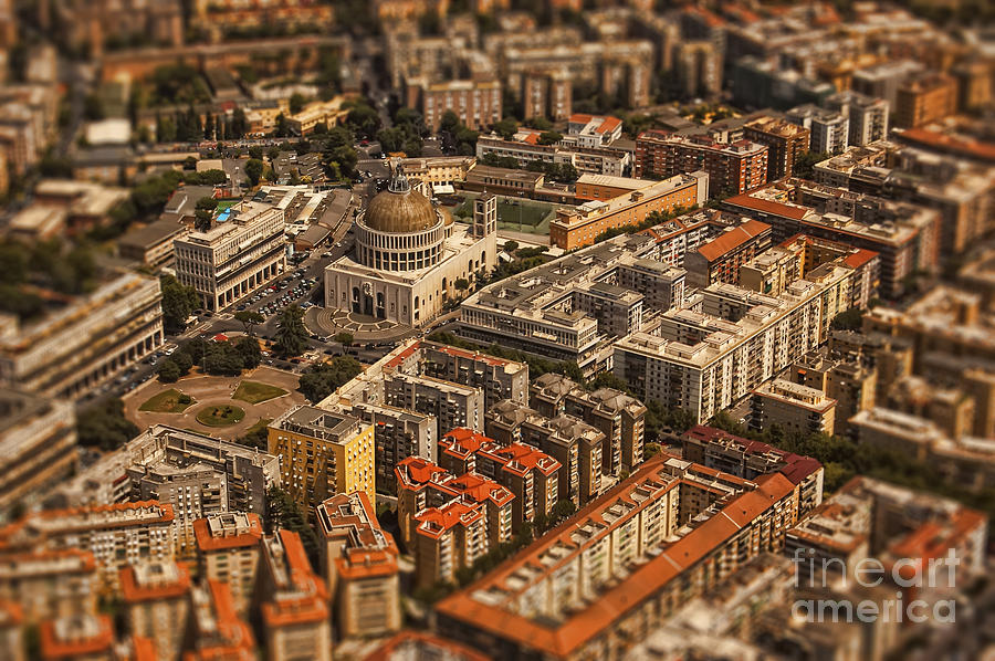 Rome Architecture Aerial Photo Photograph