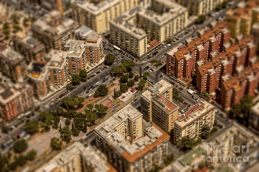 Rome Buildings Aerial Photography Photograph