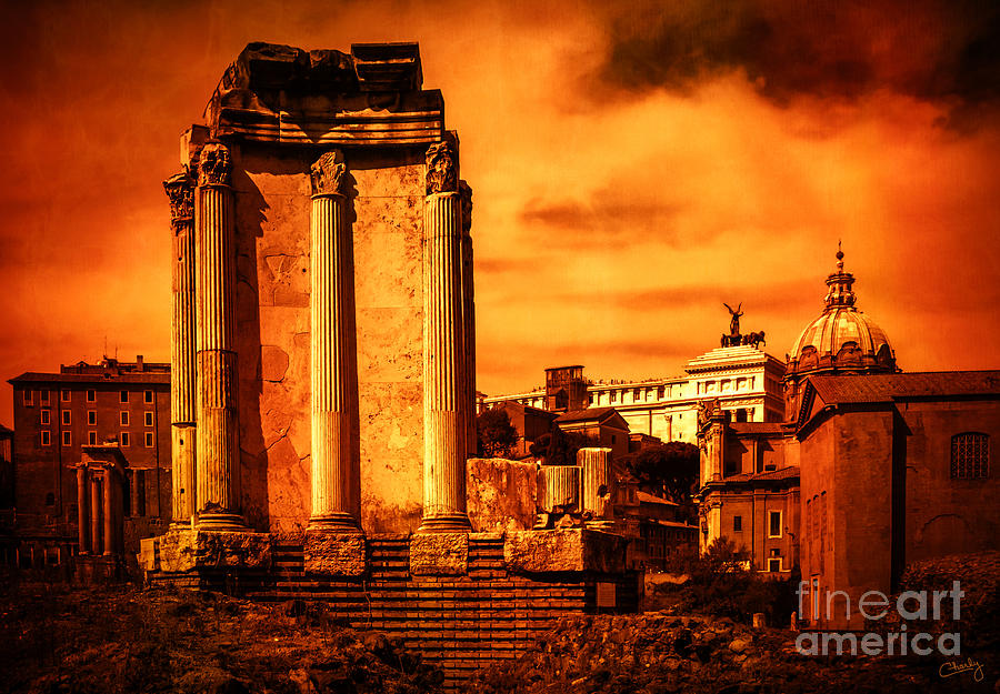 Rome Burning by Prints of Italy