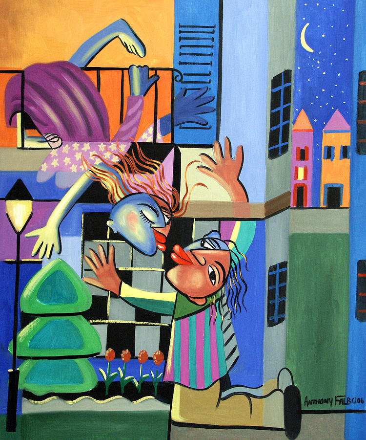 Romeo And Juliet Painting - Romeo And Juliet by Anthony Falbo