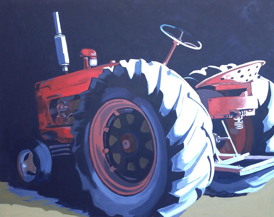 Tractor Painting - Vintage Tractor 2 by Jeffrey Bess